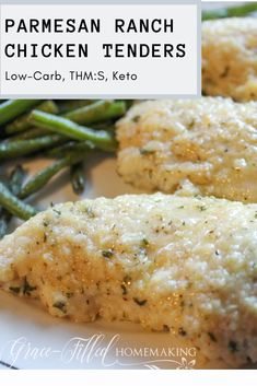 Recipes Low Carb My Parmesan Ranch Chicken Tenders are a family-friendly dinner that's sure to be a new favorite! This juicy, low-carb, Trim Healthy Mama, and keto friendly meal is easy to make. Trim Healthy Mama Diet, Trim Healthy Recipes, Healthy Dinner Recipes, Healthy Eating, Thm Recipes, Healthy Low Carb Meals, Cream Recipes, Smoothie Recipes, Soup Recipes