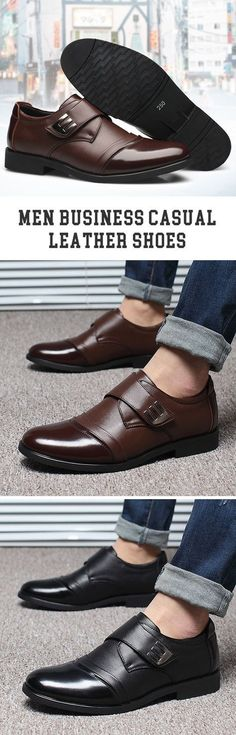 ecb5d183272d09 US 32.86 Business Casual Leather Shoes Mens Fashion Casual Shoes
