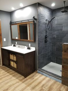 Meant to work with and contrast the old-world charm of the decorative Dunmore collection the Inspira collection brings a touch of contemporary industrialism. The bold, blackish gray color is complemented by the metallic paint movement on the tile.