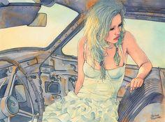 Watercolor Illustrations by Hector Trunnec | Abduzeedo Design Inspiration