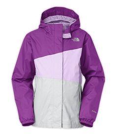 The North Face Girls' Caiman Rain Iris Purple Jacket Size S 7/8 MSRP $75  | eBay