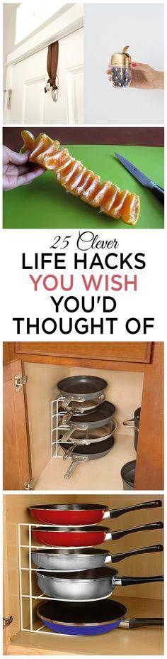 Clever life hacks, life hacks, life tips, clever life ideas, life, popular pin.