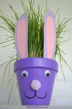 Easter bunny flower pot craft idea