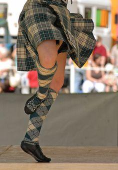 Kilt from the waist down #macrae #teal #tartan