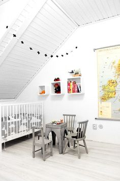 White again with accent color. Maybe for next nursery? Then we can add pink or blue...