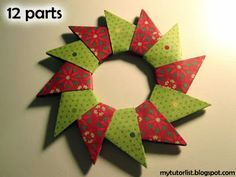 Origami Wreath Tutorial : Behind Mytutorlist.com
