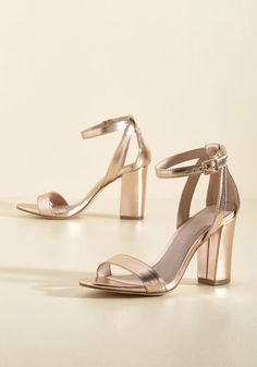 1f0ab5ef2ee A Gleaming Good Time Metallic Heel. Fun is sure to follow for as long as