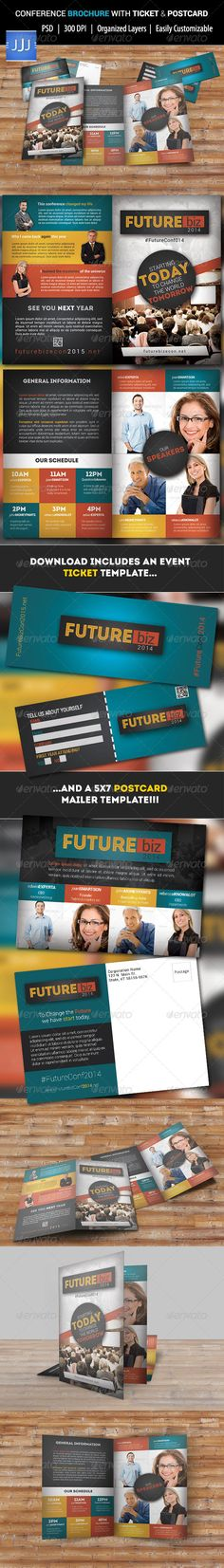 Expectations Conference Bifold Brochure Corporate brochure - conference flyer template