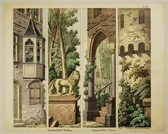 No. 1598. Rheinlandschaft (Kulissen.) Paysage du Rhin (Coulisses.)