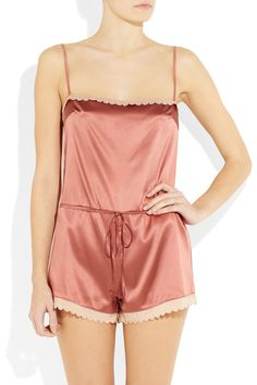 80ac0a071f22 Stella McCartney s Sam Partying Playsuit  stretch silk-satin trimmed with  silk crepe de chine