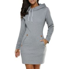 """HOT PRICES FROM ALI - Buy """"Awaytr Autumn Womens Casual Sweatshirt Dress Ladies Long Sleeve Hoodie Hooded Sweater Pullover Jumper Dress Vestidos femininos"""" from category """"Sports & Entertainment"""" for only USD. Fall Outfits, Cute Outfits, Trendy Outfits, Beautiful Outfits, Vestidos Plus Size, Mini Vestidos, Pullover Mode, Hooded Dress, Hooded Sweater"""
