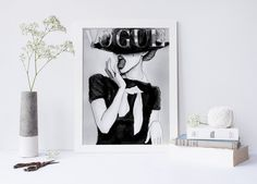 Printable art FASHION COVER PRINT;fashion cover vogue print,prints and quotes,wall art,home decor,fashion poster,fashion decor,poster art, von sweetandhoneyprints auf Etsy