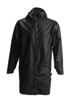 Long Jacket - Black - RAINS | Rainwear | Modern Danish Design - 2