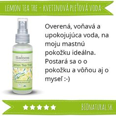 Hodnotenie kvetinovej vody Lemon Tea Tree značky #Saloos http://www.bionatural.sk/p/lemon-tea-tree-kvetinova-pletova-voda?utm_campaign=hodnotenie&utm_medium=pin&utm_source=pinterest&utm_content=&utm_term=kv_lemon