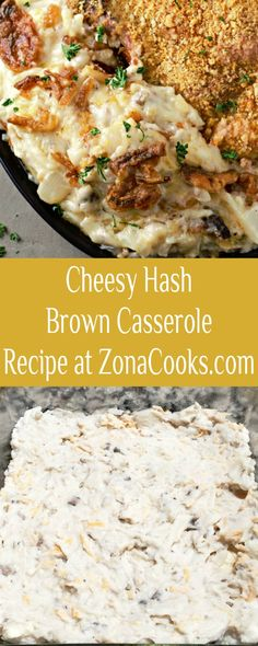This Cheesy Hash Brown Casserole is downsized to feed just 2 – 4 people, ready in just 30 minutes for a quick and easy dinner or lunch side dish, or even breakfast. Hash brown potatoes are combined with tender crisp onions, butter, cream of mushroom soup, sour cream, and shredded sharp cheddar cheese all topped with buttery crunchy potato chips or French's Fried Onions and baked to perfection. #HashbrownCasserole #SideDish #SmallBatch #SideDishForTwo #RecipesForTwo #cheesy #casserole Cheesy Hashbrown Casserole, Cheesy Hashbrowns, Hash Brown Casserole, Cooking For Two, Meals For Two, Cooking Ideas, Breakfast Hash, Breakfast Recipes, Side Dish Recipes