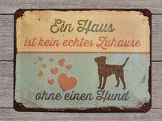 Retro-SchilderBlechschild-Türschild: Ein Haus ist kein echtes Zuhause ...