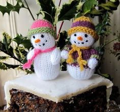 free knitting pattern snowman