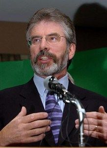 Gerry Adams is born in Belfast. Adams is one of the most divisive figures in Irish politics, loved and loathed, adored and distrusted with a passion by respective sides. He is currently TD (member of Irish parliament – Dail Eireann) for Co. Louth and President of socialist Republican party Sinn Fein. Although he absolutely and consistently denies it, there is a general acceptance in Ireland that Adams was a senior figure in the IRA during much of the troubles.