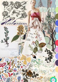 "Trend Orientations © Mirella Bruno Textile Print Trend Colour Design 2016. ""Herbarium"" SS/18. Propagating since September 2015. http://cargocollective.com/mirella-bruno-print-designs/Inspiration-Information"