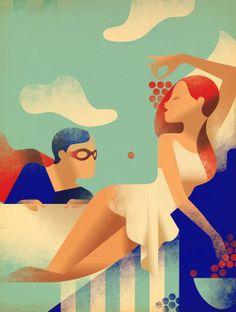 Hosber Art - Blog de Arte & Diseño.: Ilustraciones Art Deco por Mads Berg
