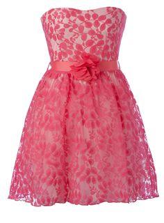 Formal Dresses For Girls | Bright Pink Flower Lace Prom Dress - girls sale (2-16) - Children ...