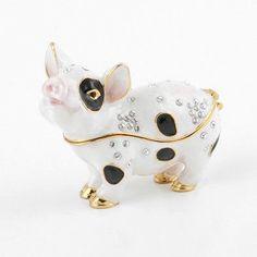 Cute Little Piggy Trinket Box