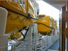 Lifeboats onboard the Quantum of the Seas.
