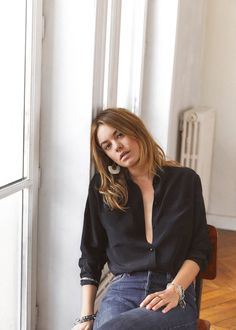 """French """"it"""" girl brand, Sezane, has launched a new collection today and (surprise, surprise) it's selling out fast. The new looks for fall and winter are based on timeless classics that will last you year after year. As usual, the pieces are styled to capture all things sexy, Parisian chic. Below, explore the new collection …"""