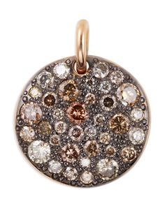 Sabbia 18k Rose Gold & Brown Diamond Pendant - Pomellato