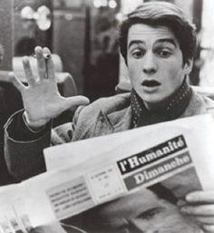"""Jean-Pierre Léaud as """"Paul"""" in Jean-Luc Godard's Masculine Feminine aka Masculin Feminin c. 1966."""