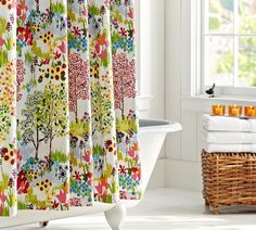 Bright shower curtain option