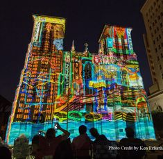 See the history of San Antonio in a 24-minute film - projected on the facade of a 1700s #cathedral.