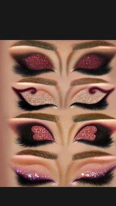 Dope Makeup, Baddie Makeup, Makeup Eye Looks, Eye Makeup Art, Crazy Makeup, Eyeshadow Looks, Makeup Eyeshadow, Eyeliner, Makeup Inspo