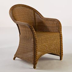 Honey Catalina All-Weather Wicker Tub Chair | Outdoor and Patio Furniture| Furniture | World Market