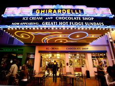 Ghirardelli ice cream and chocolate shop...need I say more?
