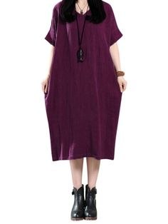Casual dresses under 30 dollars casual women pure color v-neck summer short sleeve loose dresses #casual #dresses #and #skirts #casual #dresses #europe #casual #dresses #high #low #casual #dresses #high #street