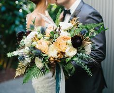 Photo of Foxtail Florals - Brea, CA, United States. The bride bouquet! Check out those metallic accents (dried it and it's still gorgeous!)