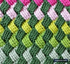 This Celtic Basket Weave Stitch Free Crochet Pattern is unique. Once you get used to the stitch, you will be able to crochet many items with it. Crotchet Stitches, Crochet Stitches Patterns, Stitch Patterns, Knitting Patterns, Crochet Car, Crochet Gratis, Free Crochet, Basket Weave Crochet, Basket Weaving