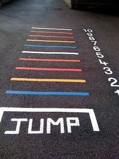 Long jump activity for speech therapy during Summer Olympics theme. Use tape on floor or go outside and use chalk!