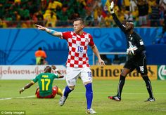 Pointer: Ivica Olic celebrates after scoring his team's first goal of the night