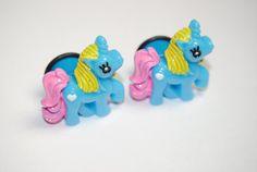 Unicorn 9/16 inch (14mm) Acrylic Plugs, Ear Gauges, Women, Stretched Ears, Pretty, Cute, Pony, Adorable, Fun, Kawaii, Plugs for Girls