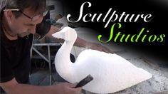 Peacocks from Polystyrene / Styrofoam by Sculpture Studios