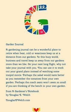 A Garden Journal from A Gardener's Notebook
