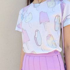 Ice cream pastel lavender tennis skirt