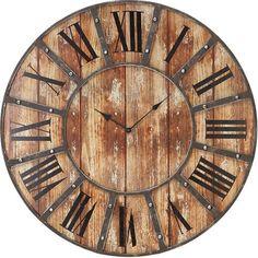 "Calverley 26"" Brown Wall Clock   - Art Van Furniture"