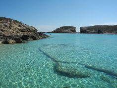 Le Lagon bleu de #comino : avez-vous déjà vu une eau aussi transparente? #malte