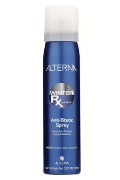 Dry, cold air means one big thing: static, which can result in you looking like you look like you stuck a finger in a socket every time you take off your hat (friction makes the electric charge worse). The perfect solution: this spray, which was specifically designed to calm overexcited winter strands in a flash.    Alterna Winter Rx Anti-Static Spray, $20, available at Folica.