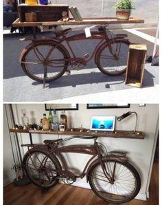 Vintage Bicycle Western flyer Table 1940- Custom Made On Flea Market Flip