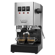 Gaggia Classic Pro Espresso Machine, Solid, Brushed Stainless Steel Make sure this fits by entering your model number. Rugged Brushed Stainless Steel housing Commercial three-way solenoid valve Espresso Machine Cleaner, Best Home Espresso Machine, Espresso Machine Reviews, Automatic Espresso Machine, Espresso Coffee Machine, Coffee Maker, Café Espresso, Italian Espresso, Italian Coffee