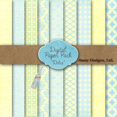 Dolce Digital Paper Pack